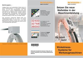 Produktflyer: Winkelmess-Systeme für Werkzeugmaschinen