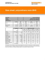 Data sheet:  vacuum casting resin 8045