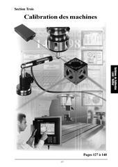 Catalogue: Calibration des machines (Section Trois)
