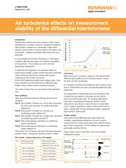 Application note: Air turbulence effects on measurement stability of the differential interferometer
