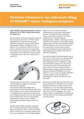 Pressrelease: Renishaw introducerar nya spännande tillägg till SiGNUM™-serien intelligenta pulsgivare