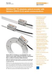 Data sheet:  RESOLUTE™ FS absolute optical encoder with Siemens DRIVE-CLiQ serial communications