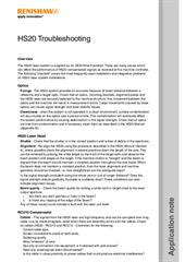 Application note: HS20 troubleshooting