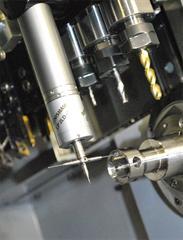 LP2 touch probe on Citizen lathe at Renishaw's Stonehouse machine shop