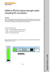 Application note: HS20 to RCU10 signal strength cable