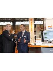 HRH The Duke of York visits the Renishaw stand at MACH 2010