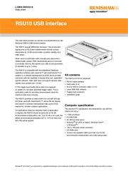 Data sheet: RSU10 USB interface