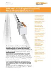 Data sheet:  EVOLUTE™ absolute optical encoder with Mitsubishi serial communications