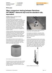 White paper:  OPTiMUM™ diamond styli for extreme measurement applications
