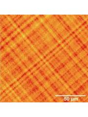 Image of the strained surface of a Si-Ge semiconductor sample