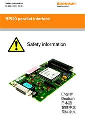 Safety instructions: RPI20 parallel interface