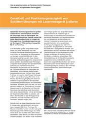 Anwenderberichte:  Geradheit und Positioniergenauigkeit von Schlittenführungen mit Lasermessgerät justieren