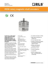 Data sheet:  RE36 series rotary encoders