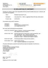 Certificate (CE): Renishaw Quarryman Pro LR ECD-YK2017-005B