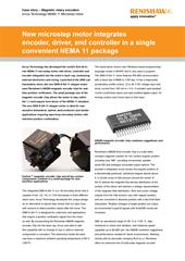 News release:  Arcus Technology's DMX-K-SA-11 stepper motor uses Renishaw's AM256 encoder chip