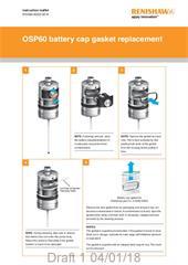 Instruction sheet: OSP60 battery cap gasket replacement