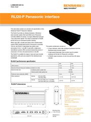 Data sheet:  RLI20-P Panasonic interface