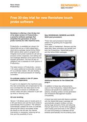 Press release: Free 30-day trial for new Renishaw touch probe software