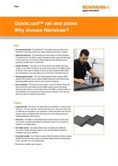 Flyer:  QuickLoad rail and plates - Why choose Renishaw