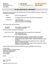 Certificate (CE): MERLIN Power Supply Unit ECD-YK2017-017C