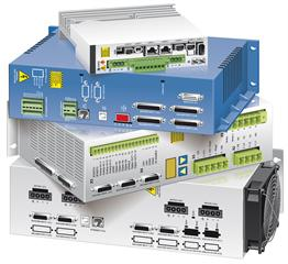 A stack of industry-standard controllers and drives: RESOLUTE