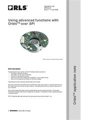 Application note:  Using advanced functions with Orbis™ over SPI