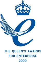 Queen's Award for Enterprise 2009 (blue)