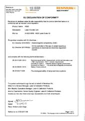 Certificate (CE): HS20 ECD 2017-84