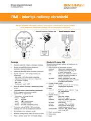 Karta katalogowa: RMI – interfejs radiowy obrabiarki