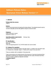 Software release note:  Quarryman Viewer 1.1