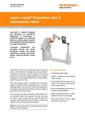 Data sheet: Key features of the neuromate® stereotactic robot - USA only