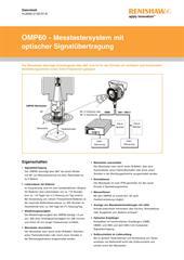 Datenblatt: OMP60 - Messtastersystem mit optischer Signalübertragung