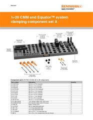 Data sheet:  1/4-20 CMM and Equator™ system clamping component set A