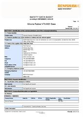 Safety data sheet: Silicone rubber VTN 6001 Base