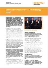 News release:  Scottish business award for spectroscopy expert