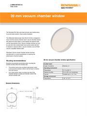 Data sheet: 39 mm vacuum chamber window