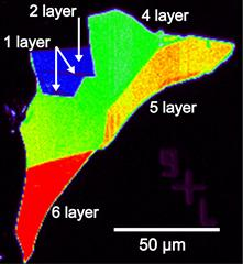 Raman image of multi-layered graphene sample