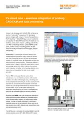 News release:  It's about time – seamless integration of probing, CAD/CAM and data processing