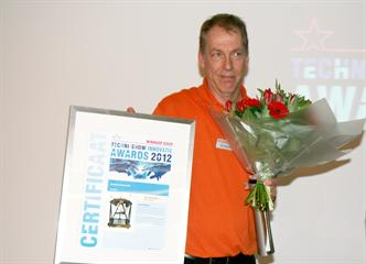 Ben Verduijn of Renishaw Benelux, receives the Gold Techni-Show Innovation Award