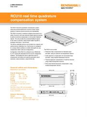 Data sheet: RCU10 real time quadrature compensation system