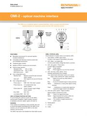Data sheet: OMI-2 optical machine interface