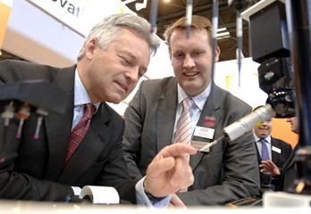 Alan Duncan visits Renishaw at MACH 2008