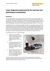 White paper:  Laser diagonal measurement for machine tool performance assessment