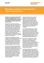 News release:  Metrology products to assist growth in Turkish manufacturing
