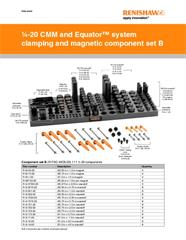 Data sheet:  1/4-20 CMM and Equator™ system clamping and magnetic component set B