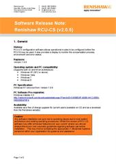 Software release note: RCU-CS V2.0.5