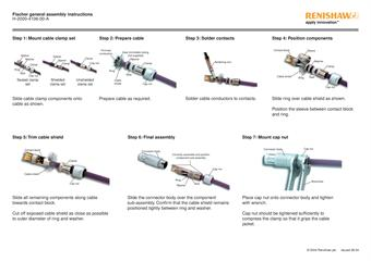Installation guide: Fischer cable assembly instructions
