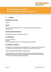 Software release note:  Release notes: Boretrak Viewer 1.1