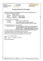 Certificate (CE): ECD2017-182 RPM01