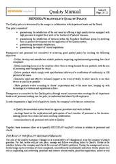 Renishaw Mayfield Sarl Quality Policy